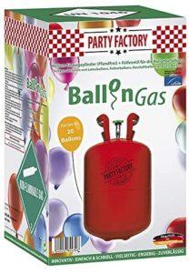 Helium Gas für die Füllung von Partyballons