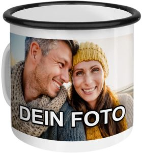 Emaille-Tasse mit eigenem Foto