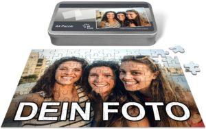 Puzzle mit Foto und Geschenkbox mit 96 Teilen
