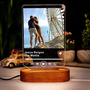 Spotify Music Board Nachtlicht für Paare beleuchtet
