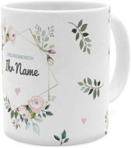 Tasse mit Namen personalisiert