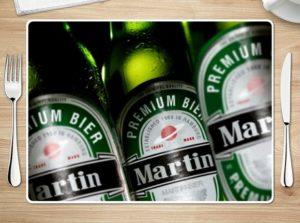 Tischset für Männer mit Bier-Motiv und Namenspersonalisierung