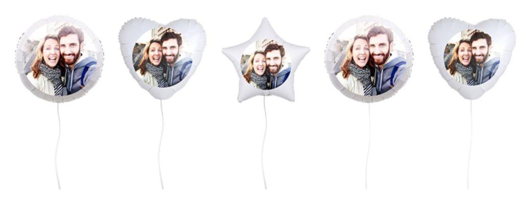 Übersicht der Ballons mit Foto in verschiedenen Formen