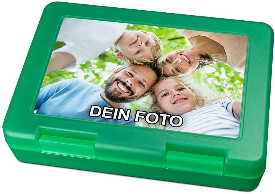 Brotdose mit Foto bedrucken in grün