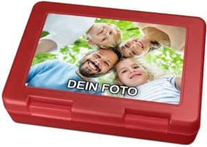 Kunststoff Brotdose mit Foto bedruckt