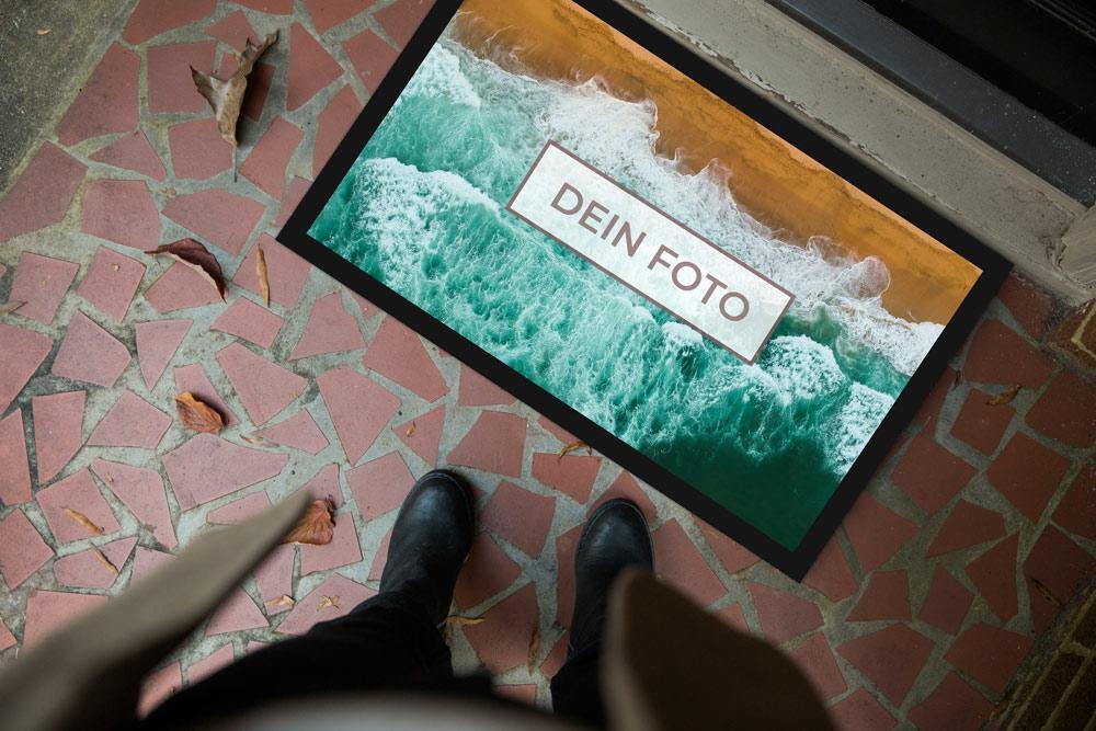 Fußmatte mit Foto selbst gestalten und bedrucken lassen