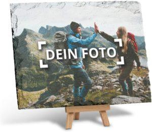 Schieferplatte mit Foto bedruckt auf Holz-Staffelei in der Größe 20 x 15 cm