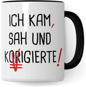 Kaffeebecher für Lehrer mit Spruch