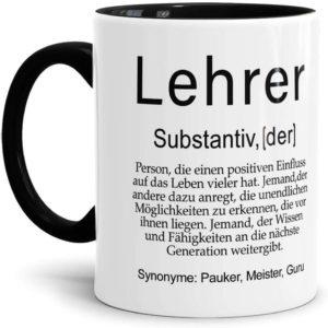 Tasse mit Definition Lehrer