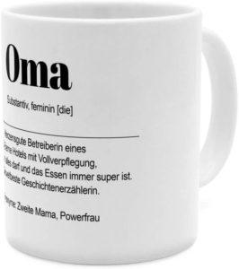 Tasse mit Namen Oma als Definition Wortbeschreibung