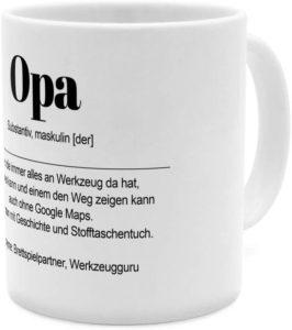 Tasse mit Namen Opa als Definition Wortbeschreibung