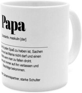Tasse mit Definition von Papa