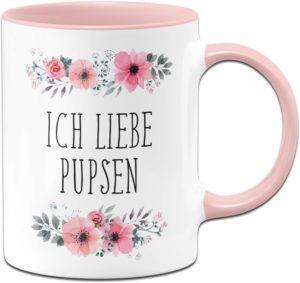 Tasse mit Spruch Ich Liebe Pupsen