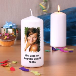 Kerze mit Foto bedrucken lassen Ambiente Bild