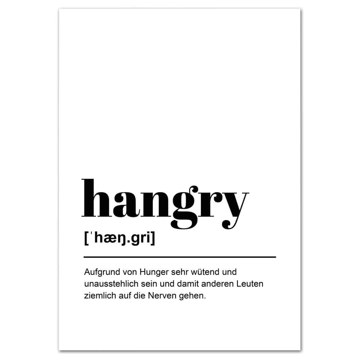 Poster Definition hangry