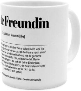 Kaffee Tasse mit Definition Beste Freundin in schwarz