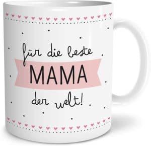 Beste Mama Große Kaffee-Tasse mit Spruch im Geschenkkarton