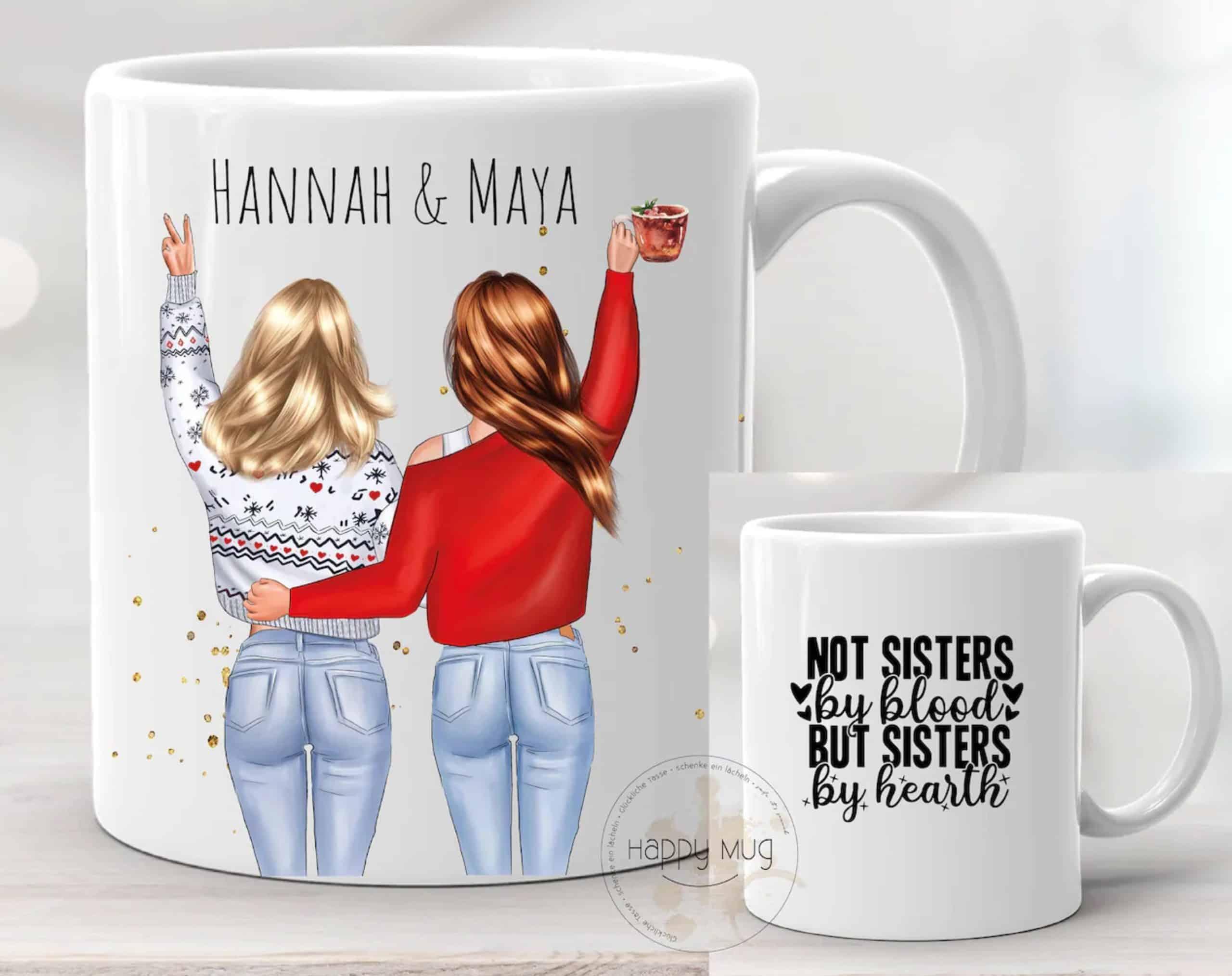 Beste Freundin Kaffeebecher zum konfigurieren und personalisieren